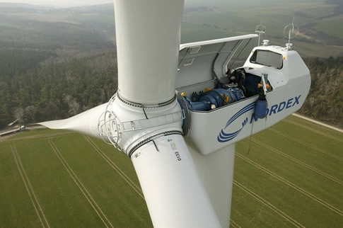 What does a wind turbine look like